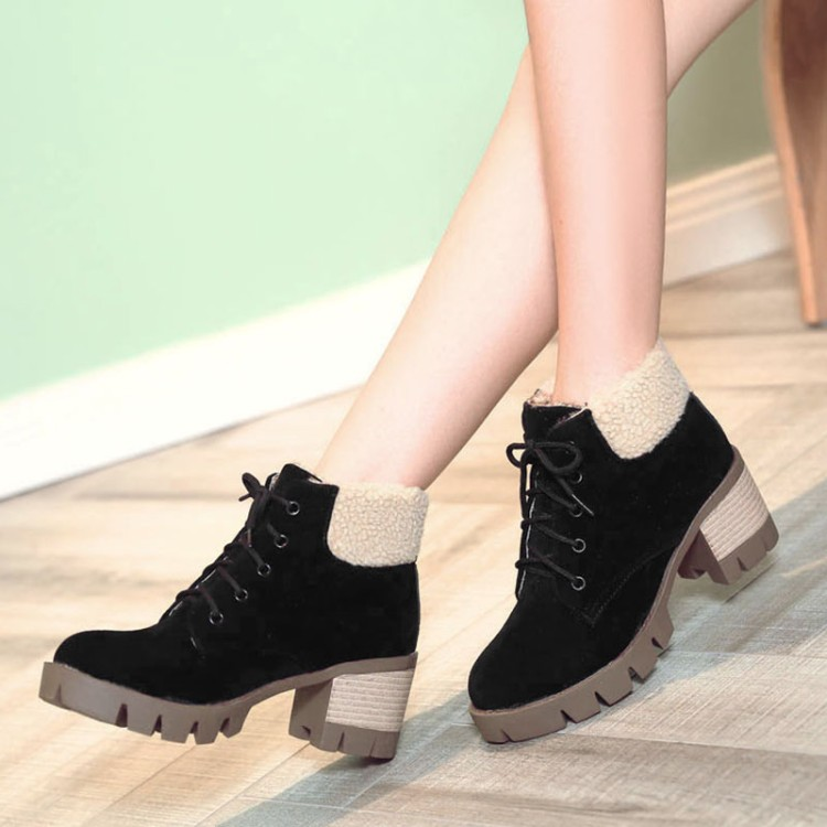 Big size 34-43 New Round Toe Buckle Boots for Women Sexy Ankle Boots Heels  Fashion warm Winter Spring Autumn Casual Shoes 926 - aliexpress.com -  imall.com 684339a2ab11