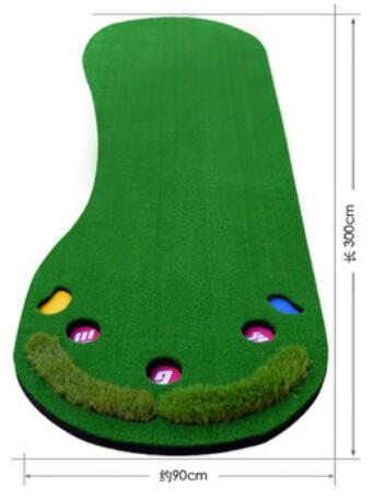 300*90CM Mini Golf Putting Green Indoor Golf Green Putter Household ...