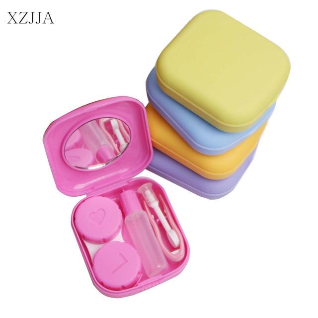 XZJJA 2PCS Candy Color Contact Lenses Storage Box Cute Contact lens Case Box Eyes Care Kit  sc 1 st  AliExpress.com & XZJJA 2PCS Candy Color Contact Lenses Storage Box Cute Contact lens ...