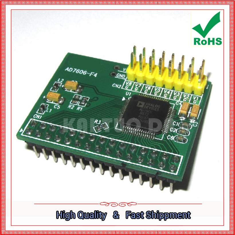 AD7606 Data Acquisition Module 16-Bit ADC 8-Channel Synchronous Sampling Frequency 200KHz board (C2B4)AD7606 Data Acquisition Module 16-Bit ADC 8-Channel Synchronous Sampling Frequency 200KHz board (C2B4)