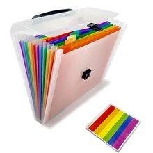 А4 органайзер для файлов, 13 карманов, пластиковый расширяющийся кошелек, папки-гармошки, размер буквы, портативная Сумочка для документов, держатель