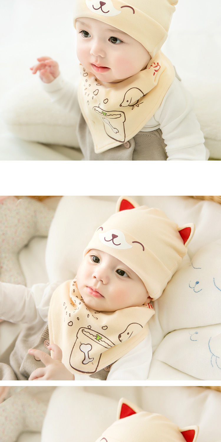 2pcslot Baby infant Winter Hat & Scarf Baby Winter Cap Children Warm Scarf For Boys Suit dog Hats Scarfs For Girl Boy Newborn (13)
