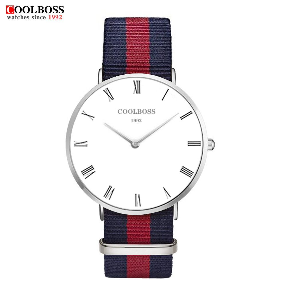 coolboss 2017 Mens Watches Top Brand Luxury Famous Classic Nylon Quartz Watch Men Sport Clock Male Wrist Watch Quartz-watch baosaili fashion wrist watch men watches brand luxury famous male clock women unisex simple classic quartz leather watch bs996