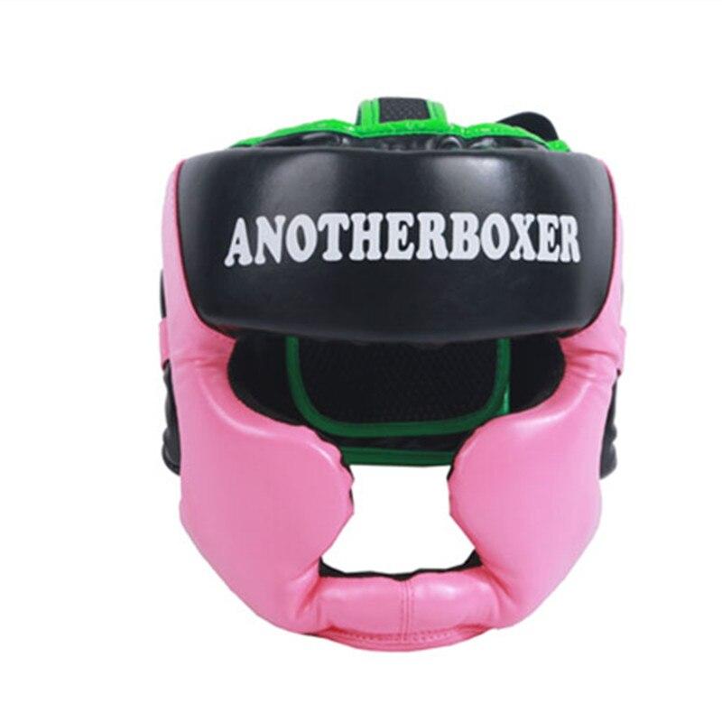 Prix pour Brésil Pretorian PU De Boxe Coiffures Hommes Femmes Semi-couverte Sport Poinçon De Boxe Fitness Tête Protecteur Coiffures (Rose/bleu/Rouge)