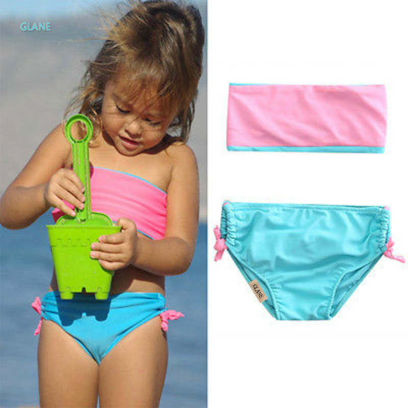 neonate arco costumi da bagno bambino bambino dei capretti delle ragazze tankini costumi da bagno bikini