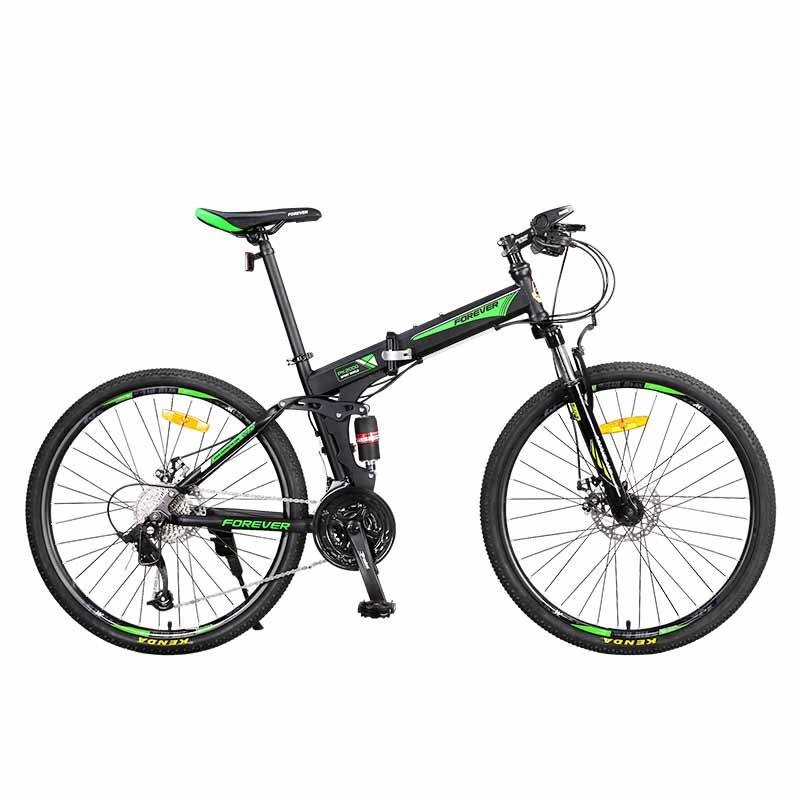 26 Inches Foldable Bicycle Mountain Bike Adult Male 27 Speed Off-Road Double Shock Absorption Vehicle