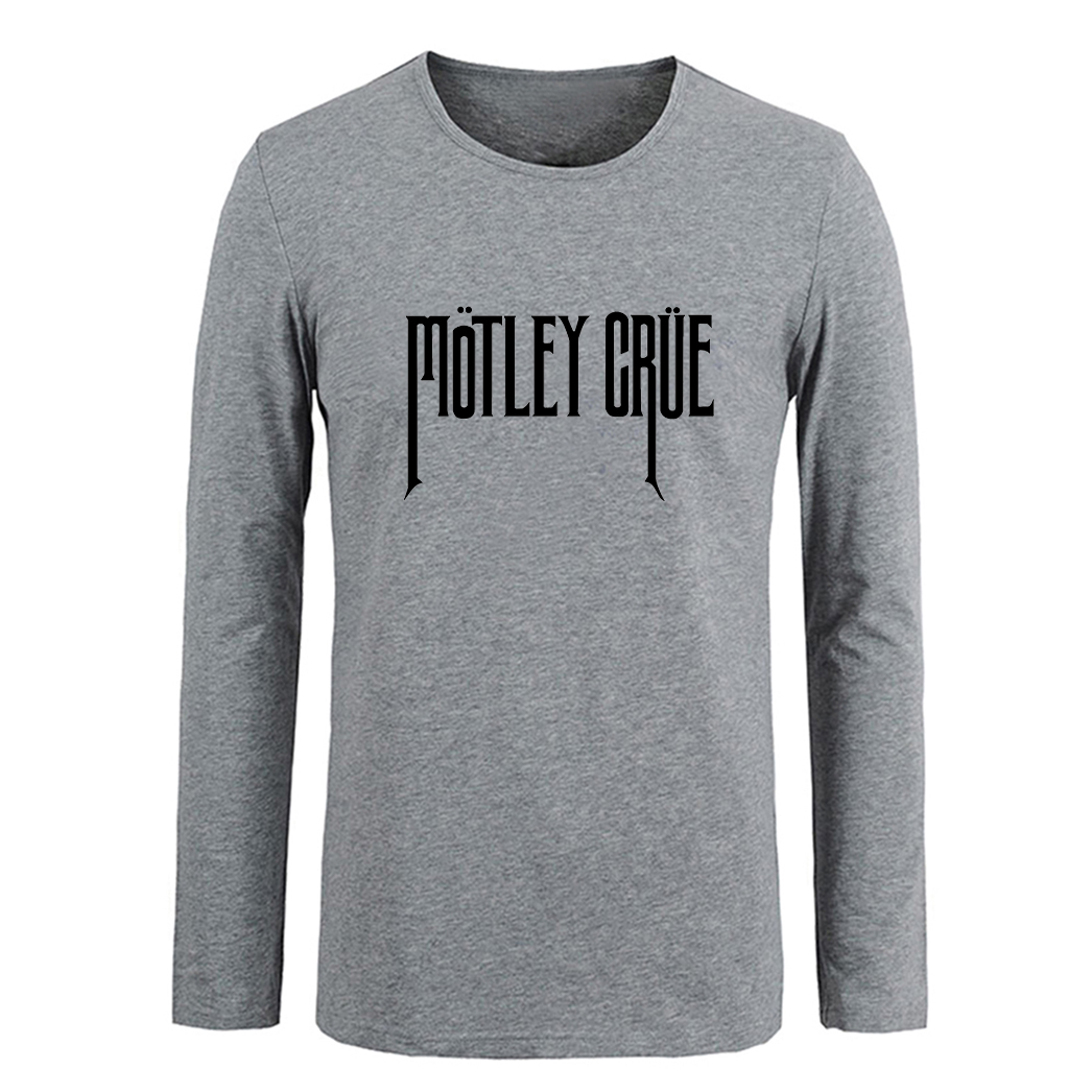 Motley Crue Bad Boys Back Patch Men Cotton Long Sleeve Tops Tees for Boy Casual Clothing