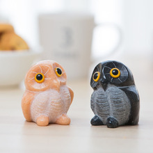 Cute Owl creative Ornament Animal Statue home decoration accessories nordic style stone figurines Christmas gift