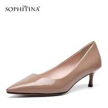 Женские туфли лодочки sophitina заостренный носок без застежки
