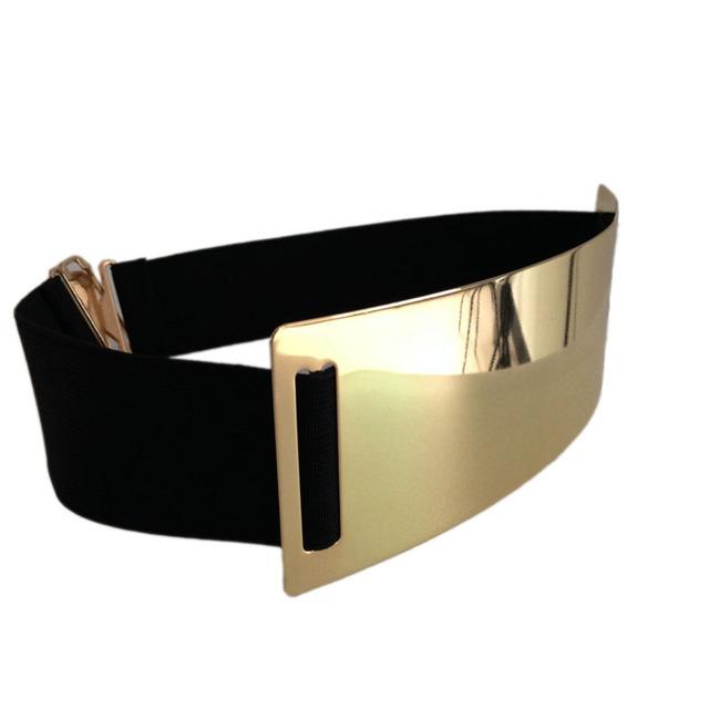 Hot Designer Belts for Woman Gold Silver Brand Belt Classy Elastic ceinture femme 5 color belt ladies Apparel Accessory