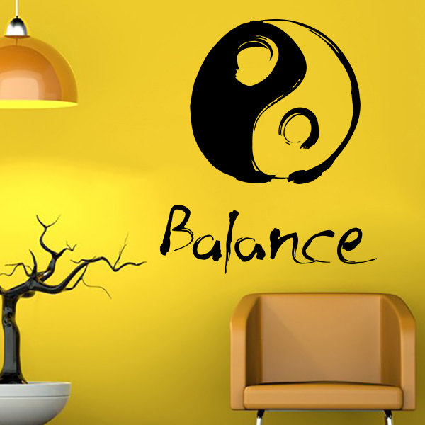 Chinese Triditional Designed Wall Decals Ying Yang Pattern Art Creative Designed Wall Sticker Home Livingroom Wall Murals WM-554