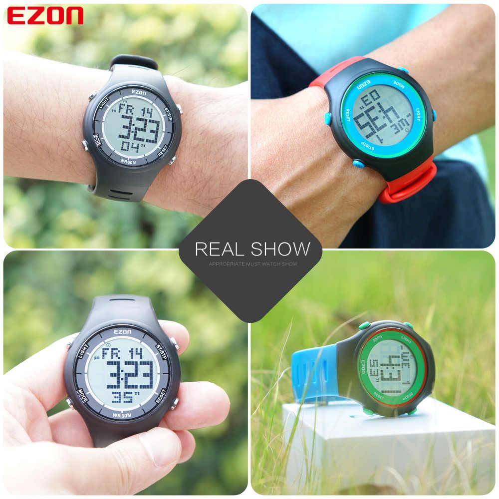 Uomini della Vigilanza Digitale di Sport per Esterno Corsa e Jogging con Sveglia Cronometro e conto alla rovescia timer 30M Impermeabile EZON L008