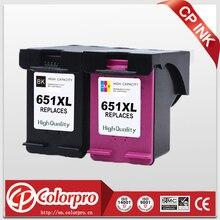 CP 2PK 651 เปลี่ยนสำหรับ HP651 651XL ตลับหมึกสำหรับ HP Deskjet 1115 2135 2136 2138, advantage 5575 5645,officejet 202 printer