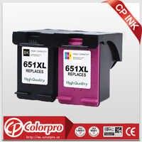 CP 2PK 651 Sostituire per HP651 651XL Cartuccia di Inchiostro per HP Deskjet 1115 2135 2136 2138, vantaggio di 5575 5645, officejet 202 stampante