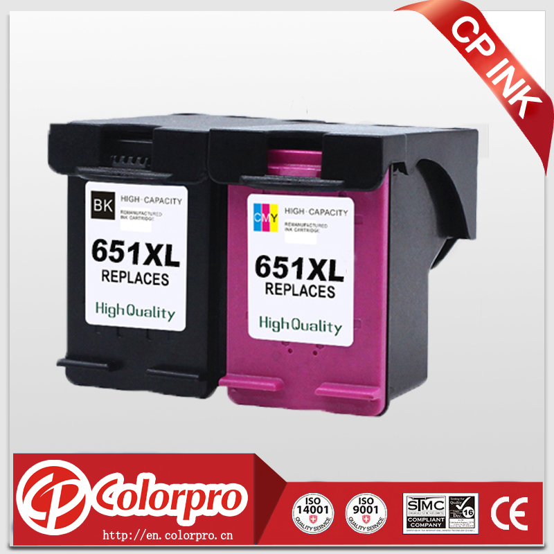 Wholesale 2PK(BK/C) For HP 651XL 651 Ink Cartridge for HP Deskjet ink Advantage 5575/5645 All in one /HP officejet 202 printer картридж hp c2p11ae 651 для deskjet ink advantage 5645 5575 цветной 300 страниц