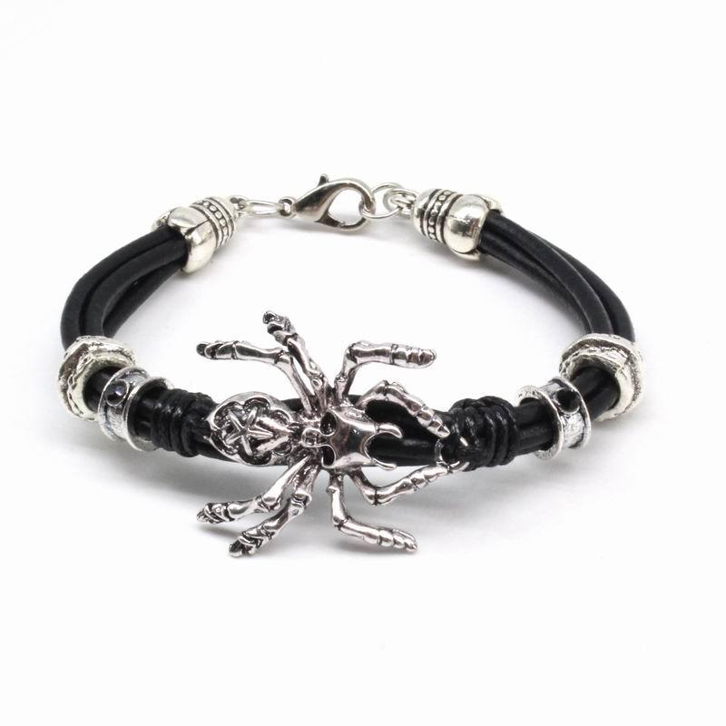 2018 New Fashion Accessories Spider Men Bracelet Vintage Multilayer Pu Leather Bracelets & Bangles Boyfriend Gift Wholesale