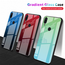 Luxury Hard Glass Case For Xiaomi Redmi Note 7 Pro Back Cover Tempered Coque