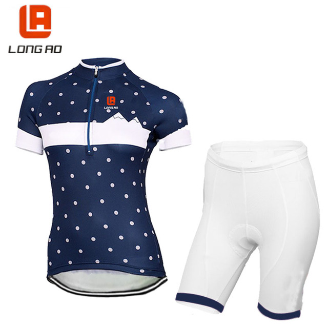 LONG AO Womens usa Cycling Jersey Set Ropa De Camisa Ciclismo classic Short  Sleeve Bike Clothing Sport Jerseys Cycling Set c17a6b85b3