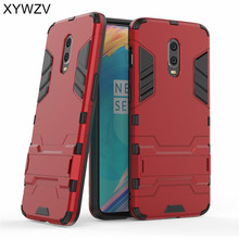 For Cover Oneplus 6T Case Armor Robot Hard PC & Silicone Phone Back Capa Shell Fundas