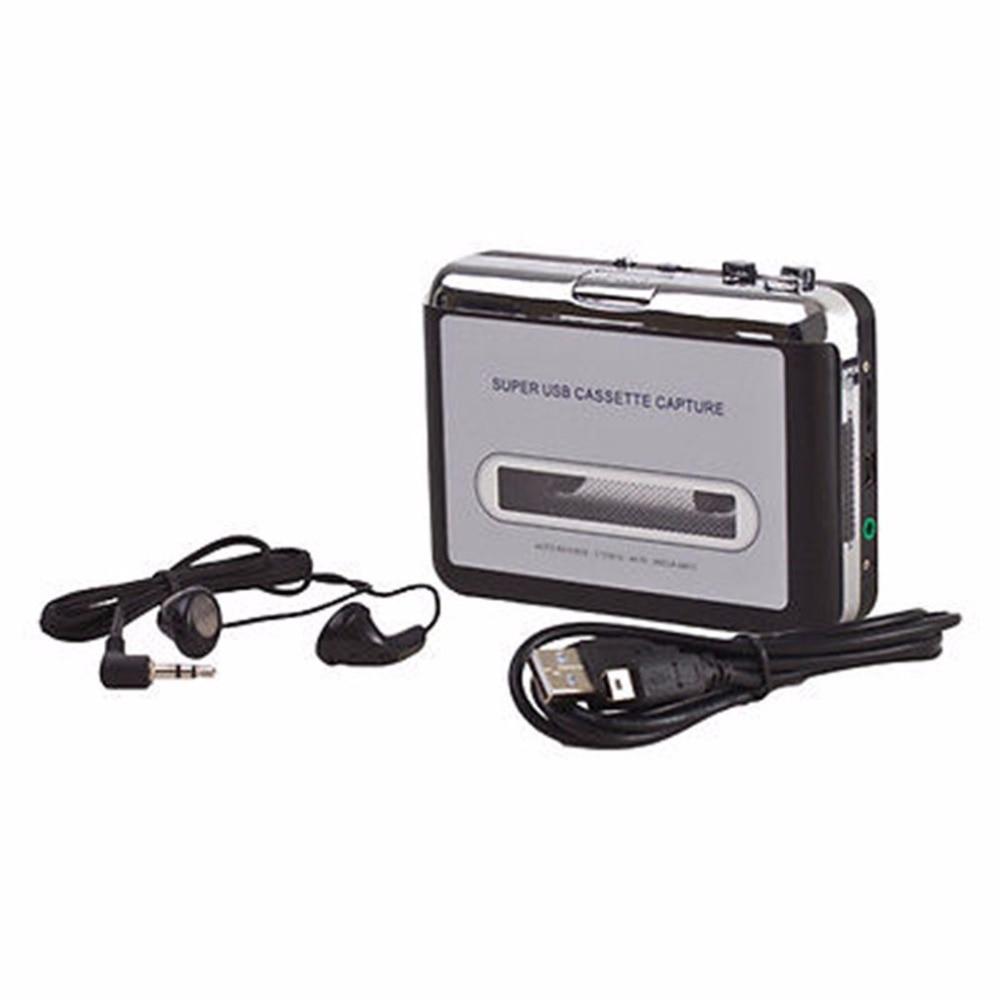 LESHP Tape Cassette Convert To MP3 Player Converter To USB Audio Captuer Walkman Music Player + CD +USB cable+ Earphones