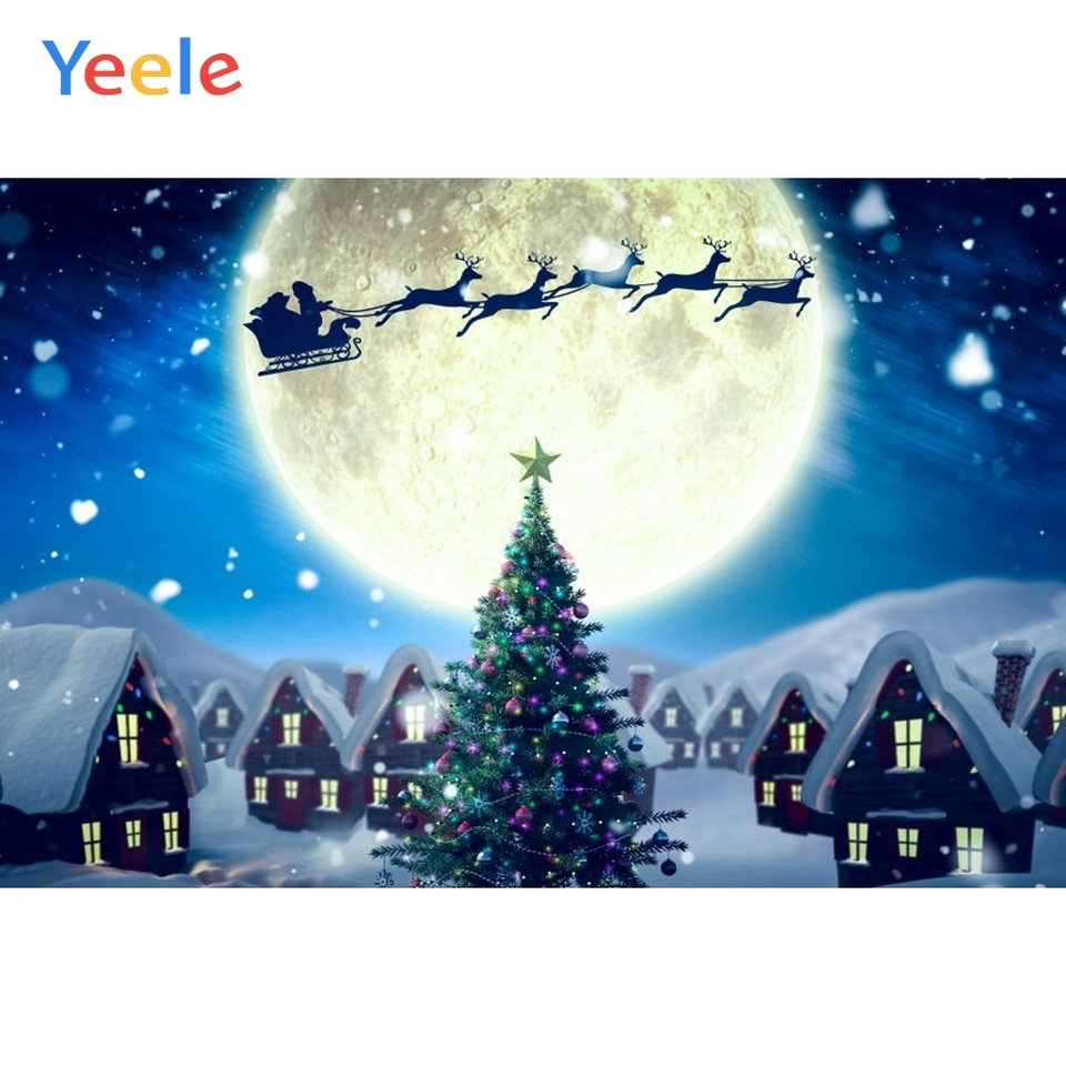 christmas backdrop moon santa claus deer house winter snow baby portrait photography background for photo studio photophone prop background aliexpress christmas backdrop moon santa claus deer house winter snow baby portrait photography background for photo studio photophone prop