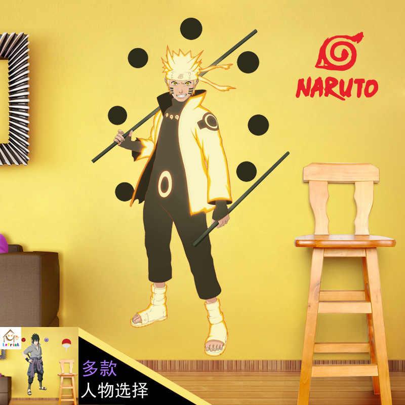 9060cm Naruto Anime Sticker 3d Visual Effect Wallpaper Naruto Sasuke Hatake