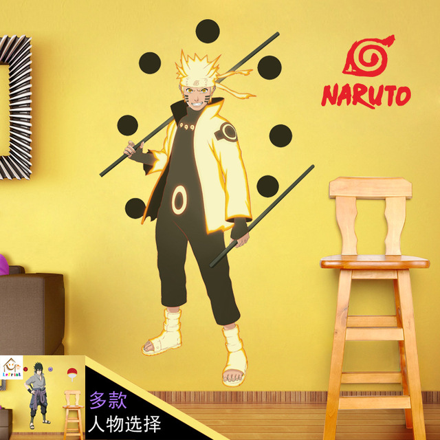 9060cm Naruto Anime Sticker 3D Visual Effect Wallpaper Sasuke Hatake