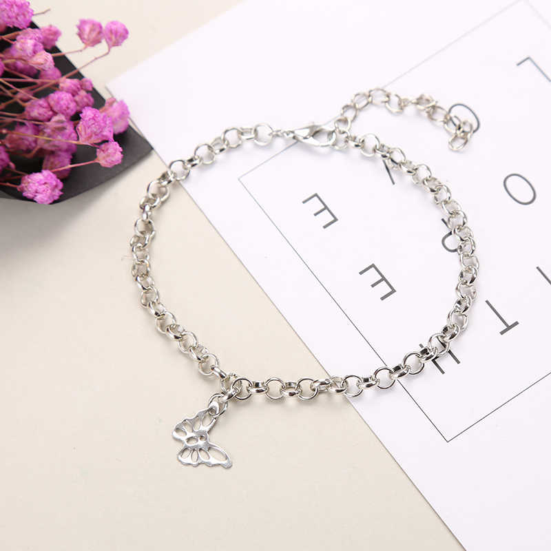2019 New Fashion Anklets for Women Stars Moon Butterfly Anklet Bracelet foot Jewelry Stainless Steel Anklet Gifts for Women