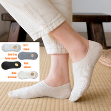Solid Color No Show Socks Women Boat Invisible Girls Cotton Slippers 1 Pair