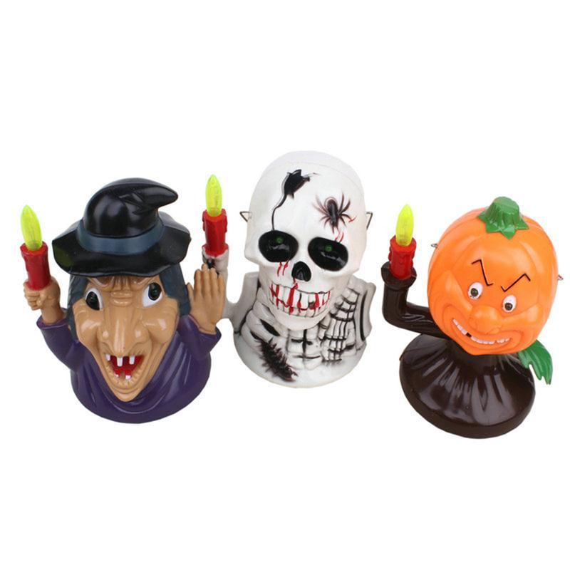 Geluiden Halloween.Us 8 63 40 Off Halloween Pompoen Of Schedel Heks Lantaarn Met Spooky Scary Geluiden Jack O Lantaarn Licht Decoratie Batterij Aangedreven In