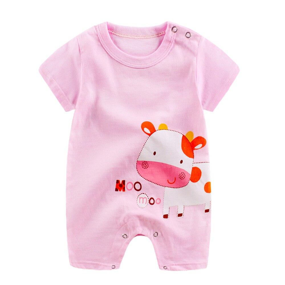 US $4 25 OFF A801 TELOTUNY Rompers Kartun Lucu Jumpsuit Pakaian bayi Baru Lahir musim panas 16 di Romper dari Ibu & Anak AliExpress