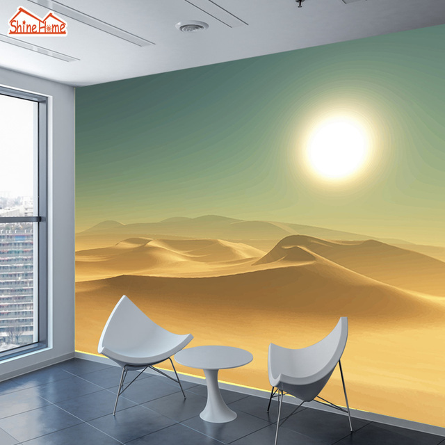 Shinehome Groe Tapeten D Wohnzimmer Wste Abstrakte Landschaft Office Home  Office Wandtapete.