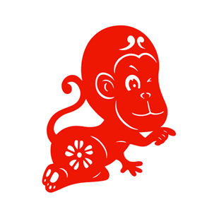 Lunar New Year Paper Cut Cartoon Monkey F Features Arts And Crafts Gifts Spring Lantern