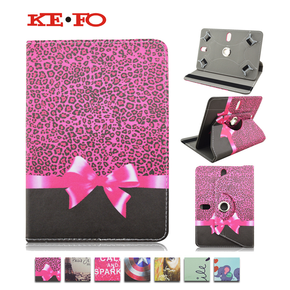 360 Rotating PU Leather Cover Case For HP Slate 7 VoiceTab Ultra For Asus Google Nexus 7.0 inch Universal Tablet cases M4A92D