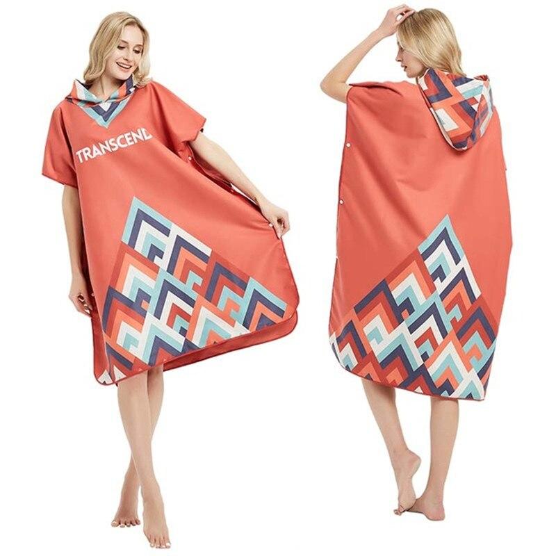 Poncho de Surf/peignoir de plongée serviette à capuche serviette de bain serviette de plage extérieure serviette de Sport peignoir à séchage rapide