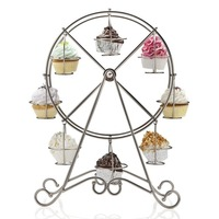 Event Party Wedding Food Display Francois Et Mimi 8 Cup Metal Rotating Ferris Wheel Cupcake And