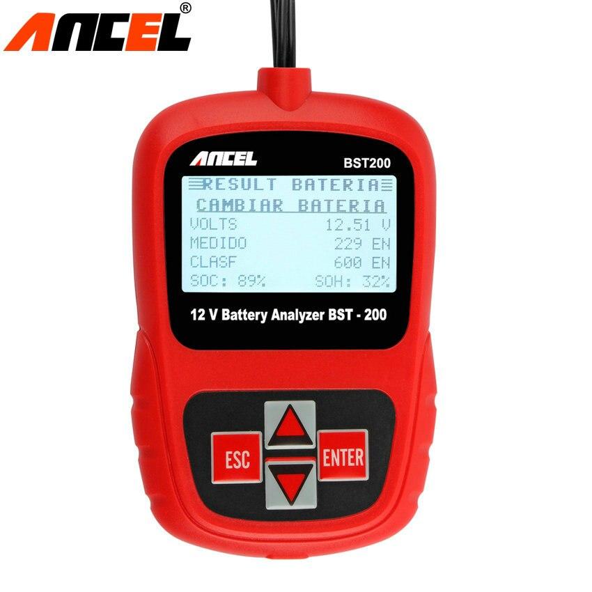 Prix pour 10 pcs/lot Date Meilleure Qualité Multi Langue D'origine ANCEL BST-200 BST200 Batterie Testeur Portable Conception Pour Mauvaise Voiture Batterie