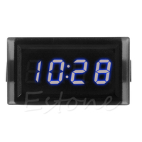 DC 12V Digital LED RGB Dashboard Waterproof Auto   Clock   Time for Car Motorcycle W15