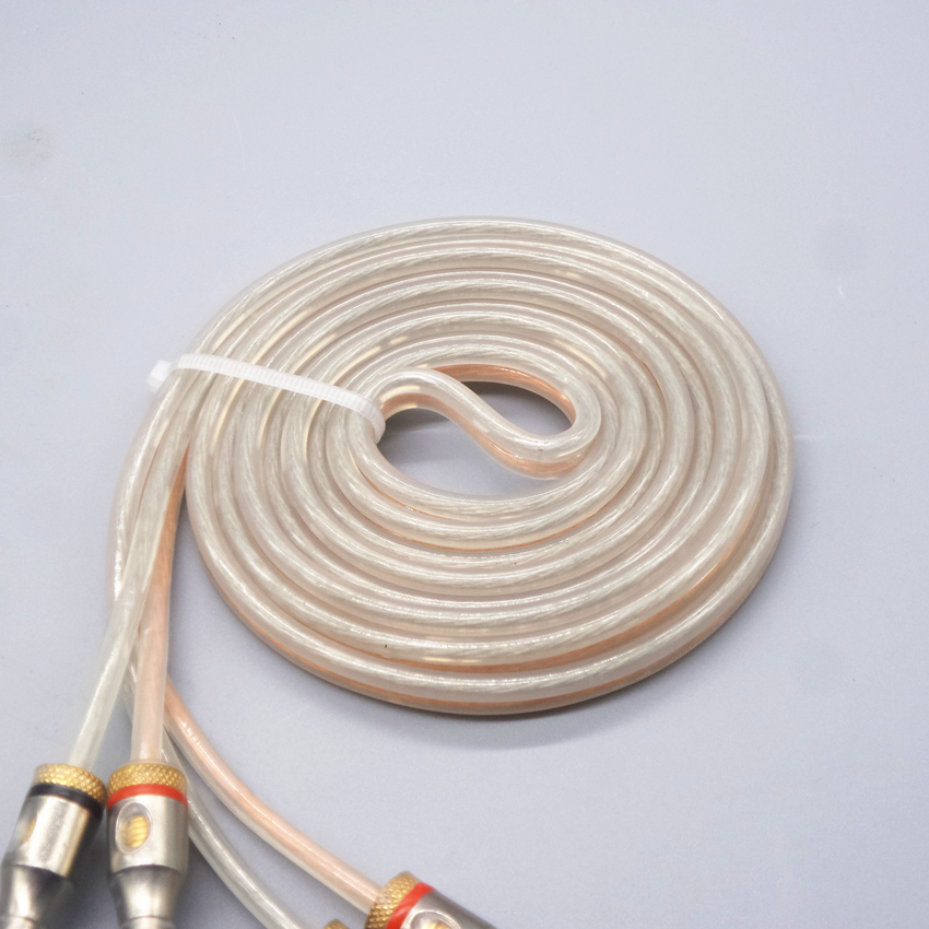 oxygen-free copper Stereo Speaker Cable 4MM banana plug audio cable 1m 1.5m 2m 3m 5m Audio / video cable