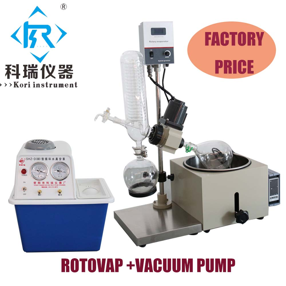 China Factory Price for 1L Vacuum Rotary evaporator Rotovap with Vacuum Pump Heating Bath for Distillation  China Factory Price for 1L Vacuum Rotary evaporator Rotovap with Vacuum Pump Heating Bath for Distillation