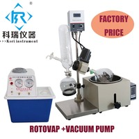 China Factory Price for 1L Vacuum Rotary evaporator Rotovap with Vacuum Pump Heating Bath for Distillation