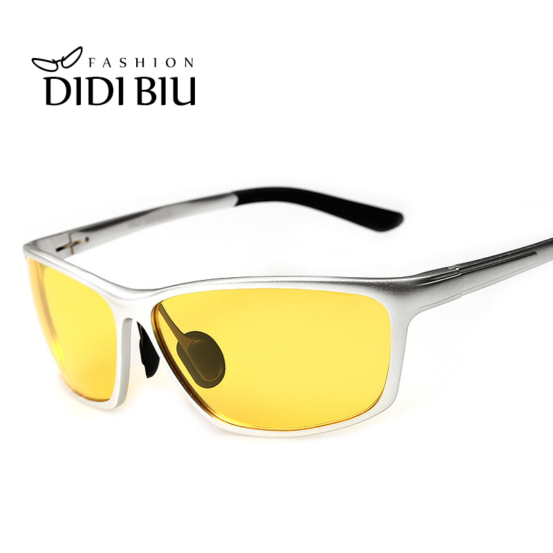 a55e2afb93c9 Detail Feedback Questions about Night Vision Yellow Glasses Polarized  Sunglasses Men Brand Rectangle Aluminium Frame Sun Glasses Driving Goggles  Oculos ...