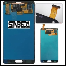 Sinbeda Super AMOLED AAAA + LCD für Samsung Galaxy Note 4 N910A N910F N910H LCD Display + Touchscreen Digitizer montage