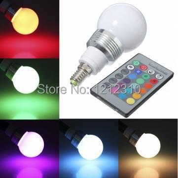 Hot Sale RGB LED Bulb Spotlight High Power E14/E27 9W AC85V-265V Dimmable Lampada De Led Lamp with Remote Control For Home