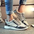 De Las nuevas Mujeres Zapatos Planos de Malla Transpirable Mujer Zapatos Para Caminar Cómodos Zapatos de Las Mujeres chaussure femme zapatos mujer