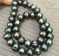 "baroque 20"" 10-11 MM AAA SOUTH SEA Black green PEARL NECKLACE"