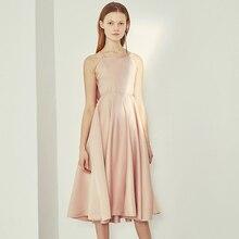 Pink Elegant Party Backless Dress 2018 Summer Sexy Dress With Open Back Sleeveless Midi Dress Strappy Wrap Ruffle Dress Vestidos