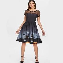 women dress fashion fall womens black 2018 plus size gothic ladies female halloween  classic dresses vintage