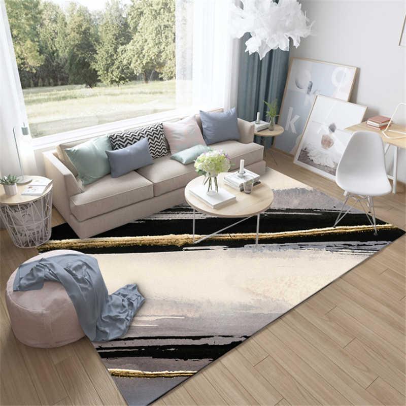 Gray Striped Carpet Area Rug