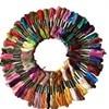 New 100Pcs Multicolor Random DMC Cotton Thread Embroidery Thread Floss Sewing Skeins Craft Knitting Spiraea Dropshipping